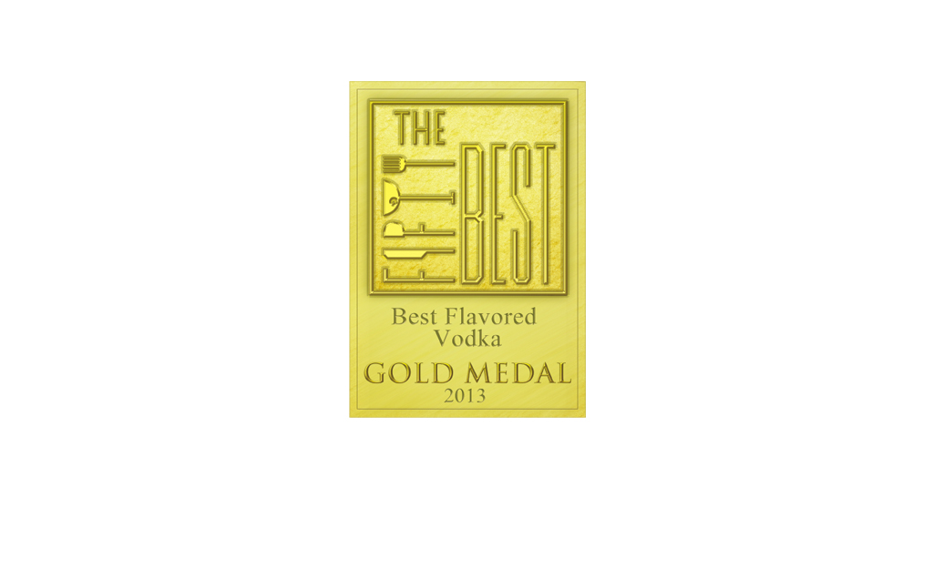 Awarded Gold Medal – The Fifty Best Flavored Vodka